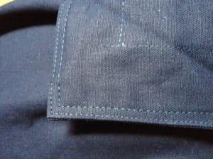 Verarbeitungsqualität der Nähte am Smoothy Cotton