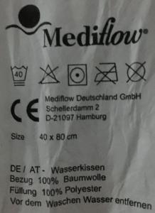 Mediflow Wasserkopfkissen Etikett