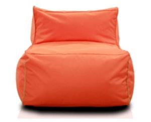 Orangener Sitzsack-Sessel