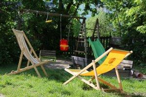 Kinder Sitzsäcke eignen sich auch zum Spielen im Garten