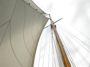 Segel eines Schiffes