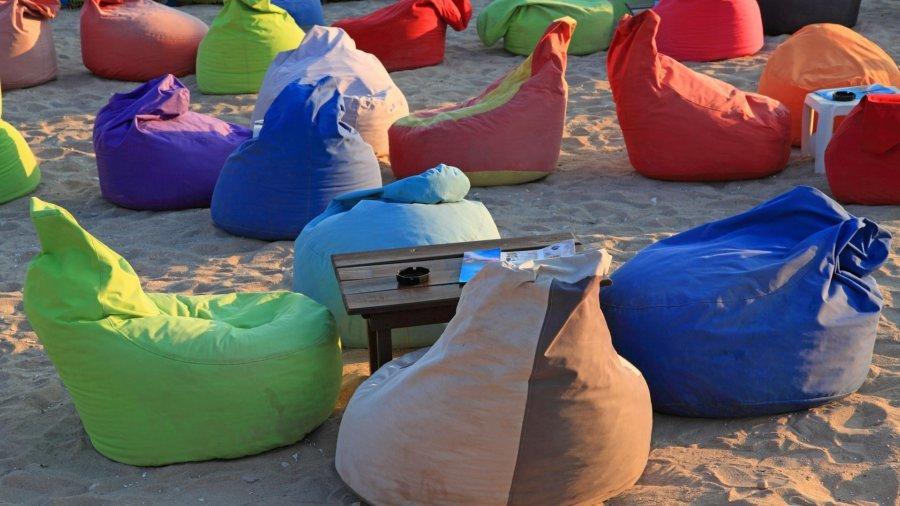 Unterschiedliche Sitzsack Farben