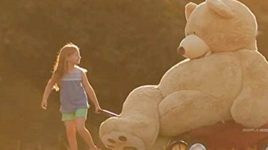Teddybär als Sitzsack